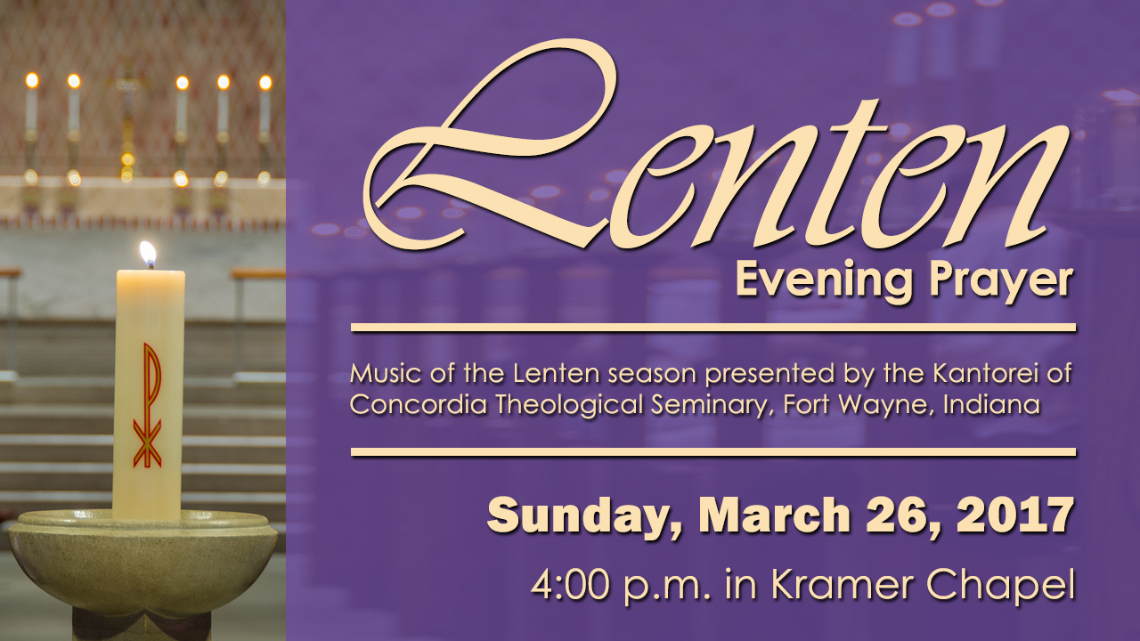 Lenten Evening Prayer Service rotator 2017