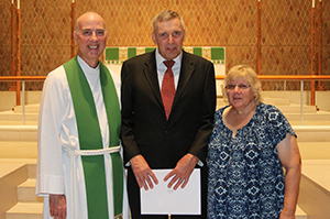 Dr. Carl Fickenscher, Rev. Timothy Sallach and Mrs. Sandra Sallach