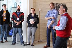 CTSFW President Rast talks with prospective students.