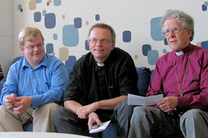 Dr. Timo Laato (center) at the 2011 Corpus Christi Youth Conference in Kristinestad, Finland.
