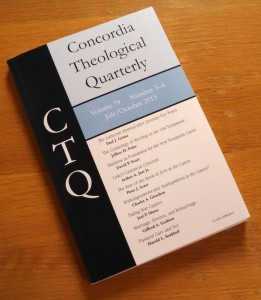 Concordia Theological Quarterly