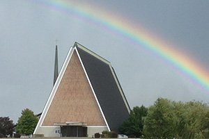 Rainbow over Kramer Chapel