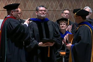 Dr. Don Wiley at 2017 CTSFW commencement