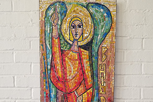 Angel mosaic located in the CTSFW library.