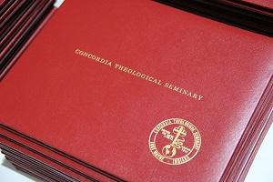 A stack of diplomas.