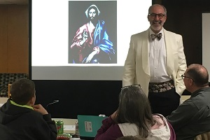 Dr. Just teaches at the Spring Confirmation Retreat in 2019.