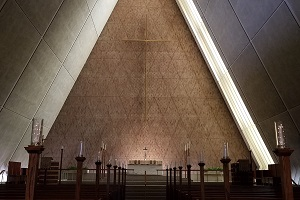 The inside of Kramer Chapel.