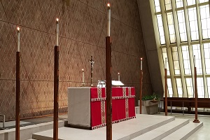 The altar in Kramer Chapel.